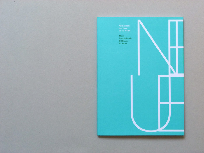 Cover design of exhibition catalogue with typographic illustration