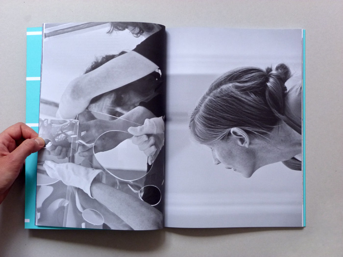 exhibition catalogue layout with combination of two images
