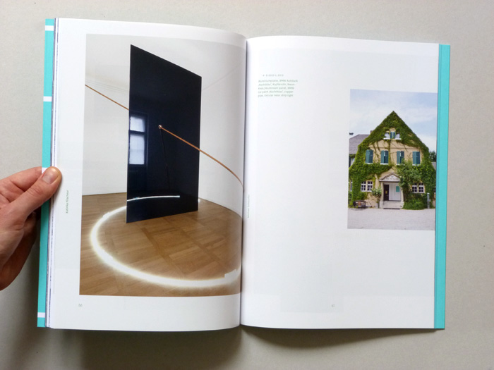 exhibition catalogue layout with exhibition views