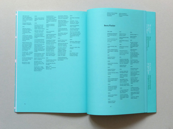 exhibition catalogue layout with appendix