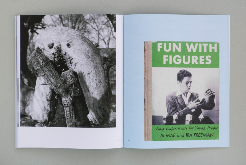 layout of double-page spread with works in artist publication