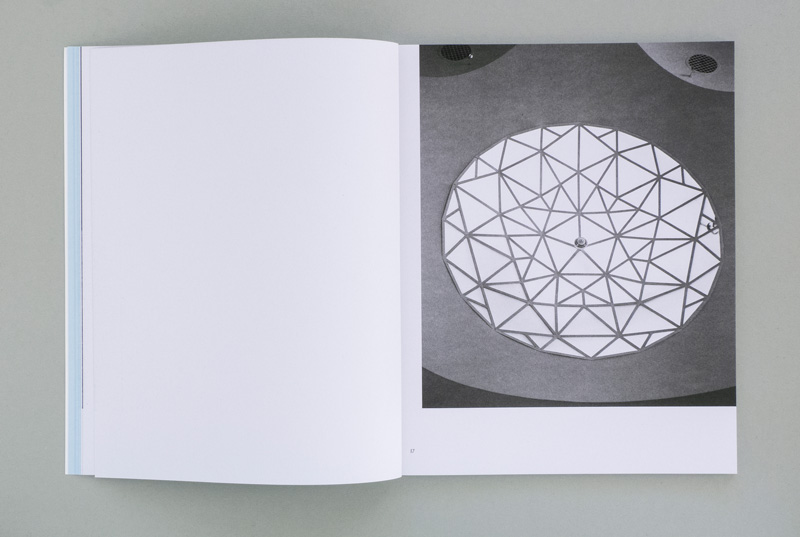 double-page spread with works in artist publication