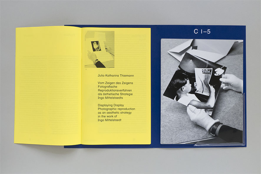 layout of brochure design in artist publication