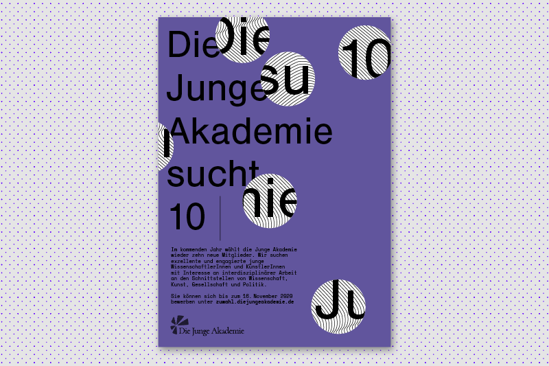 poster with typographic key visual