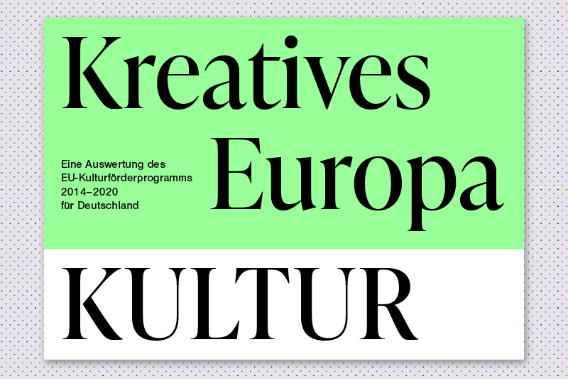 Cover of online publication about funding of creative sectors in germany