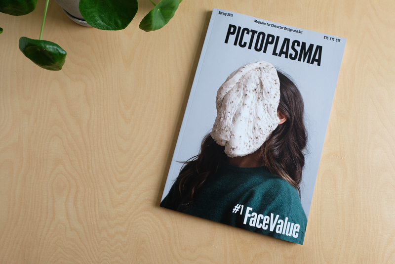 magazine cover with masked